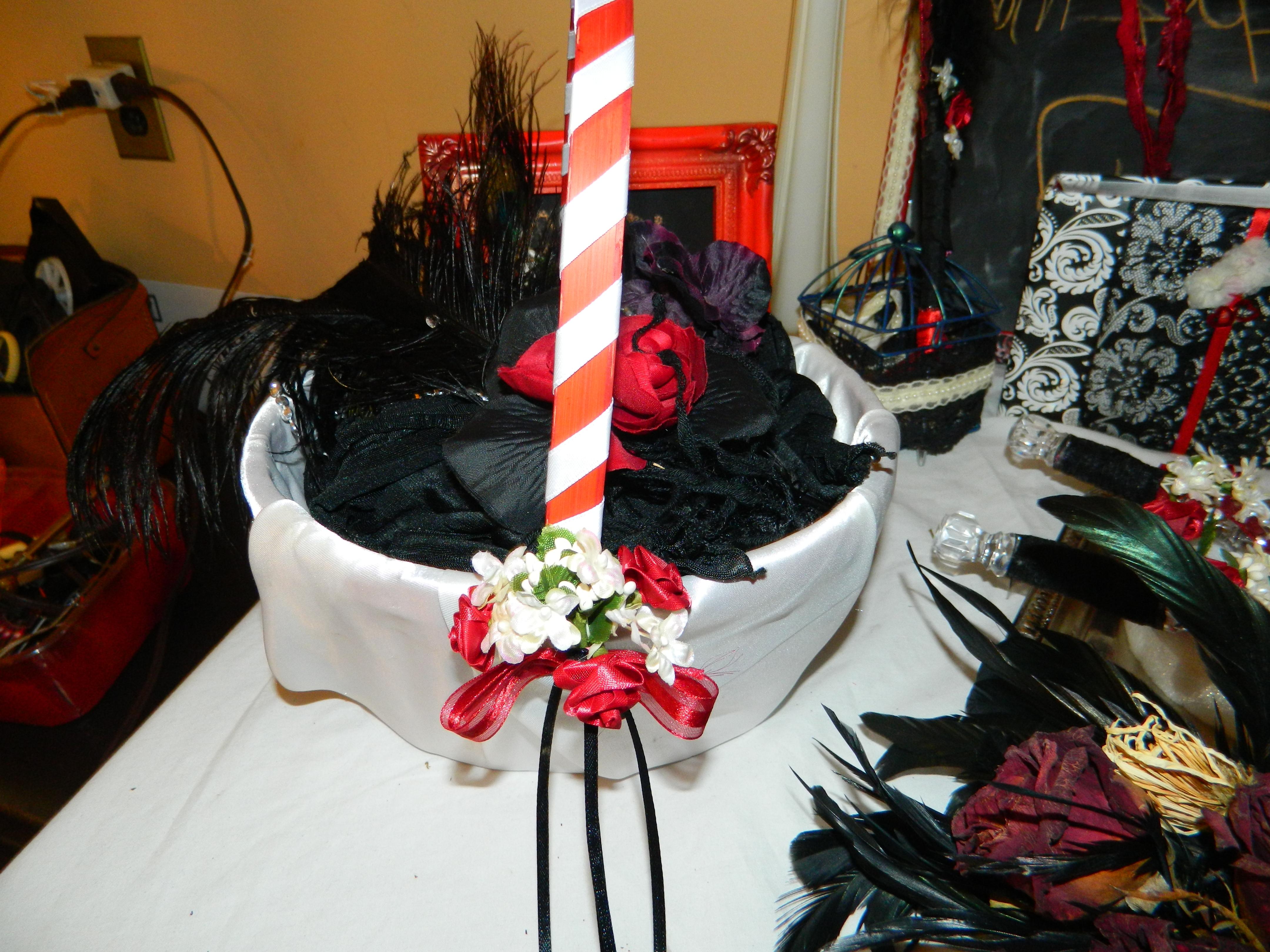 DIYish Wedding Custom Flower Girl Basket; Ceremony decor