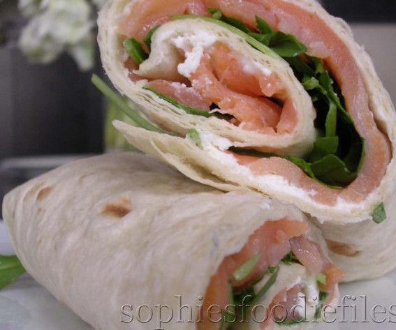 Smoked salmon & fresh sheep's ricotta wraps!