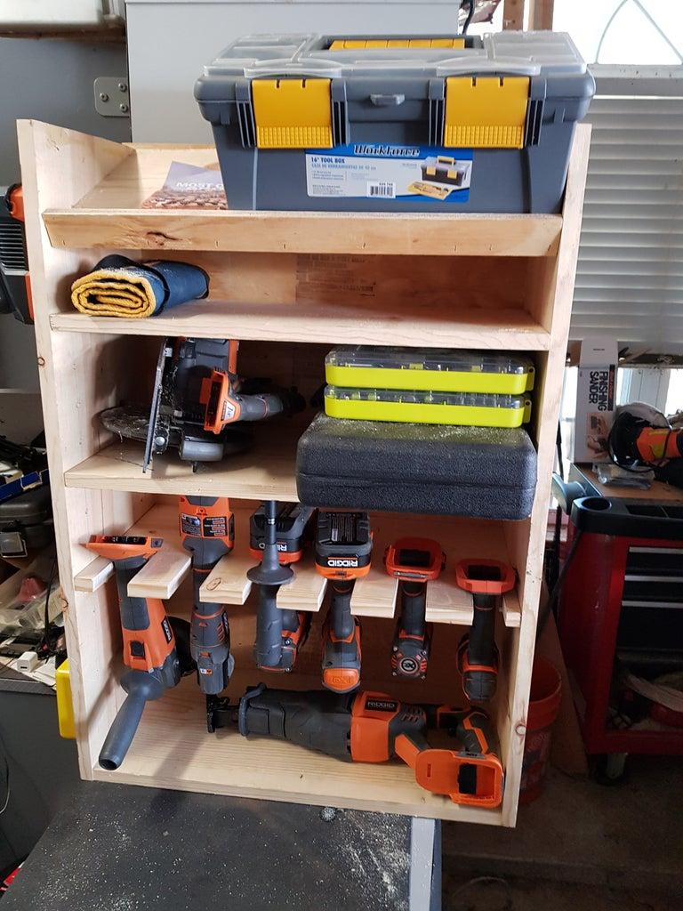 Cut Dowel and Place Shelves