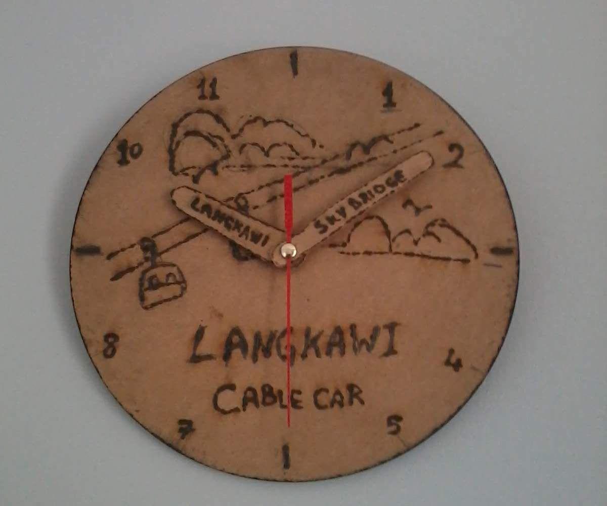 Solar Burnt Wood Clock