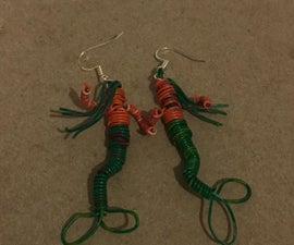 Wire Mermaid Earrings