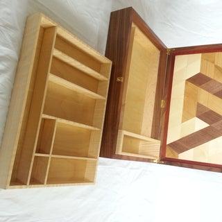 Tessellated Veneered Watercolor Box