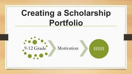 Scholarship Portfolio Instructions