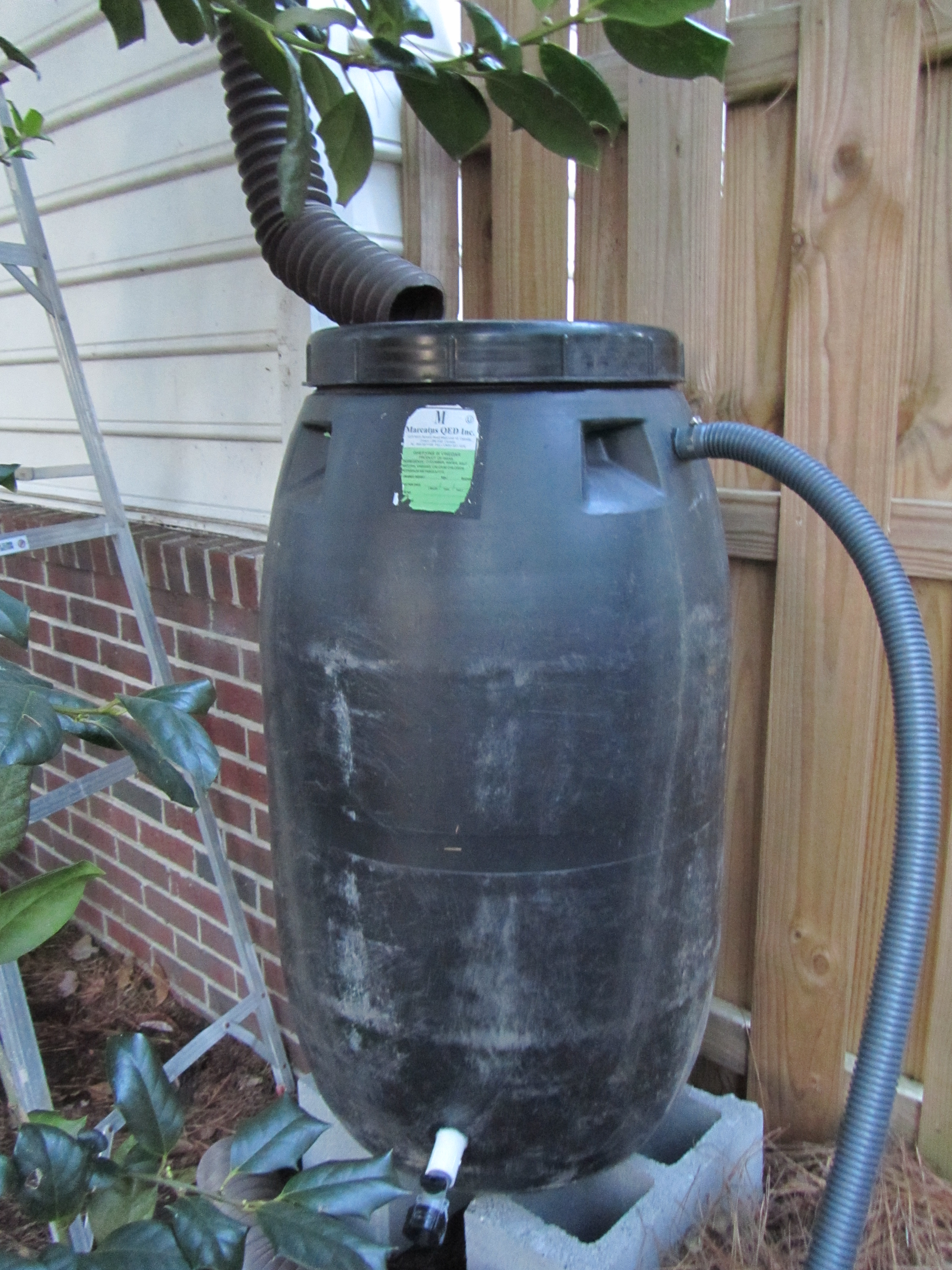 How to Make a Rain Barrel From a Pickle Barrel