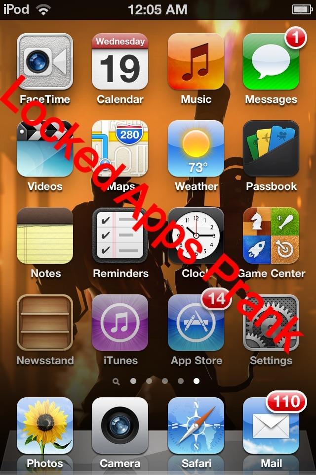"""IPhone """"Broken Apps"""" Prank"""