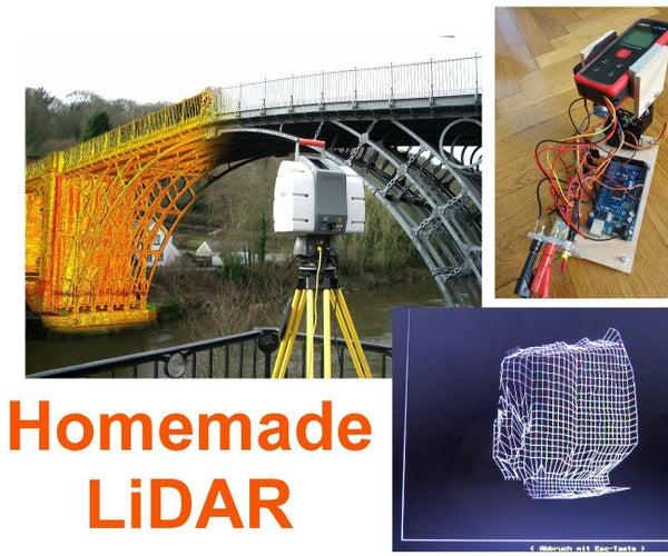 Simple LiDAR Using the Laser Rangefinder Uni-T UT390b, Arduino and Turbo Pascal