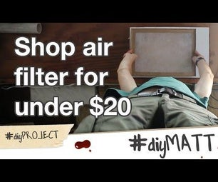 Make a Shop Air Filter for $20 Using a Fireplace Blower.