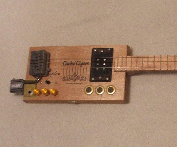 3吉他由桌子制成。#2 Cybar Box Guitar