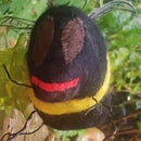 Bumble Bee Made From Scraps & Felted Wool