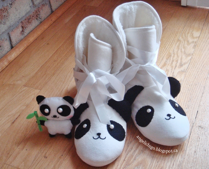 DIY Panda Sleeper Boots with Plush