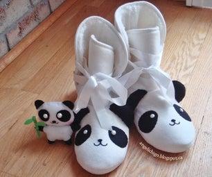 DIY Panda Sleeper Boots With Plush
