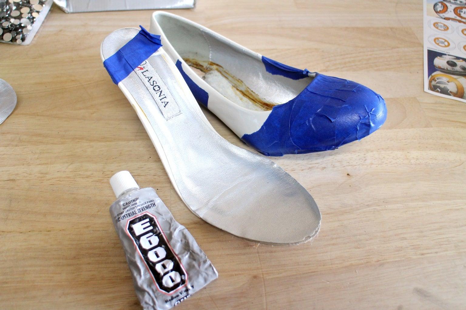 New Heel Post - Gluing Insert Into Shoe