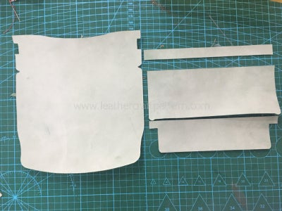 Cut All Leather Pieces by Acrylic Pattern.