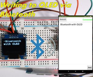 Writing to a OLED Display Via Bluetooth