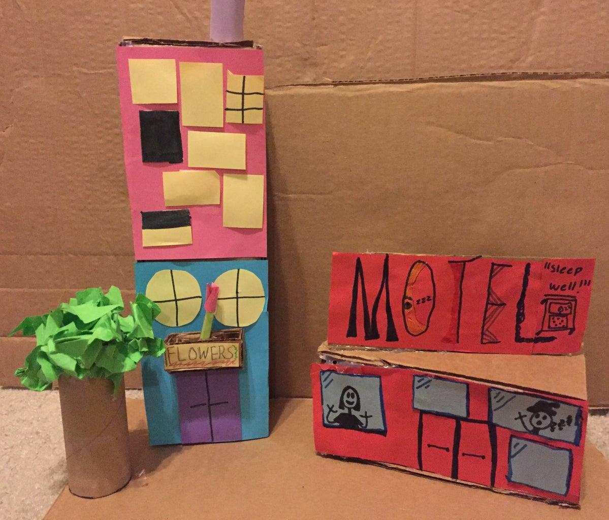 Step 3: Make Cardboard Building Different Sizes and Details.