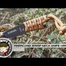Envoltura de mango de cuchillo de cuello de Paracord