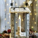 Pallet Lantern Made With Hot Glue Construction