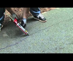 Repairing Small Cracks in Asphalt