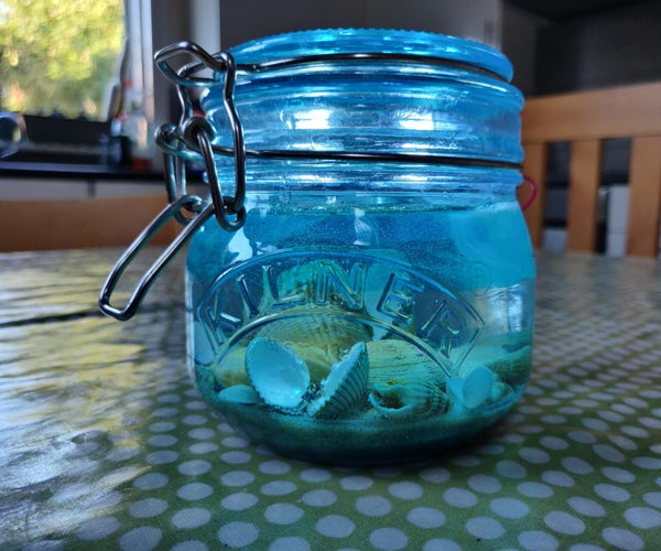 Saving a Day at the Beach in a Jar
