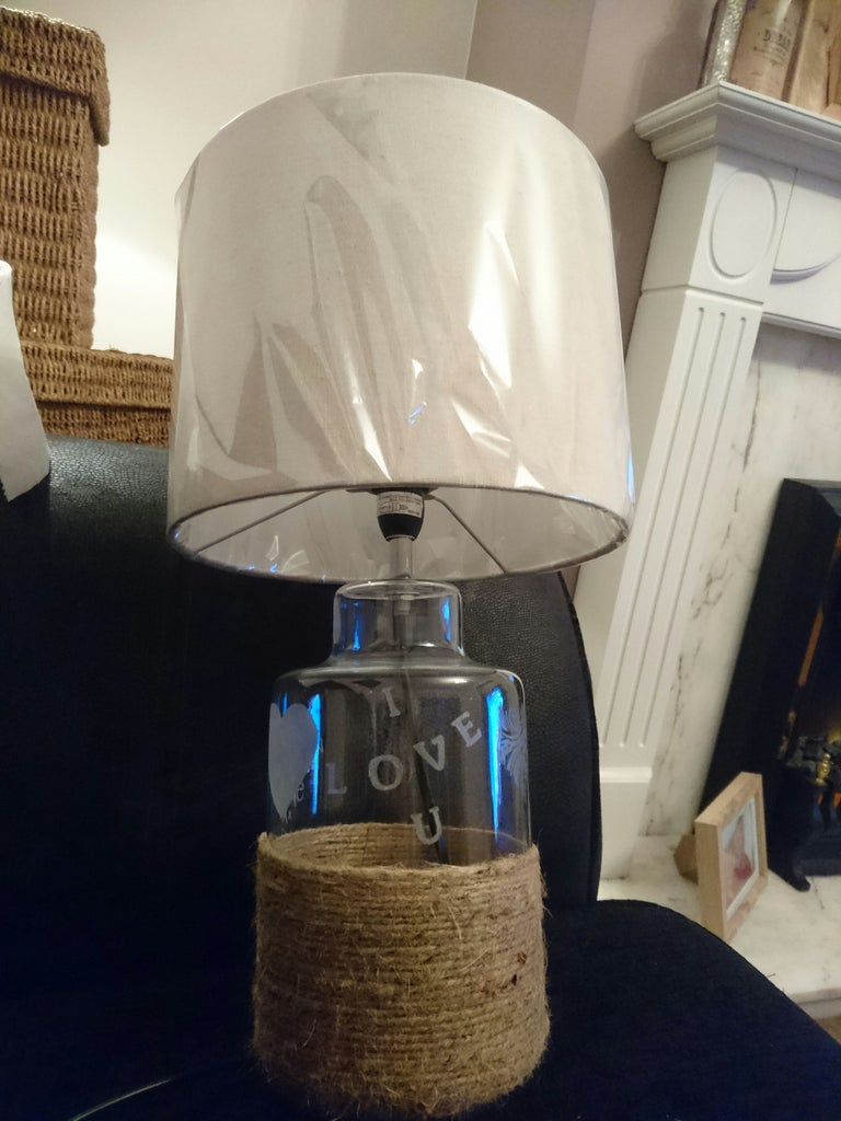 Glass Etched Lamp