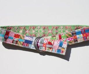 Reversible Scrap Ribbon Belt