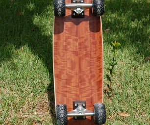 Composite sandwich skateboard