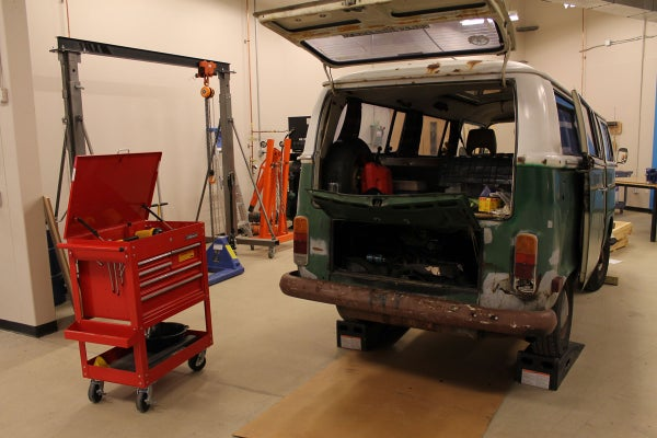 Replacing a Bowden Tube on a VW Type II Bay Window Bus at TechShop