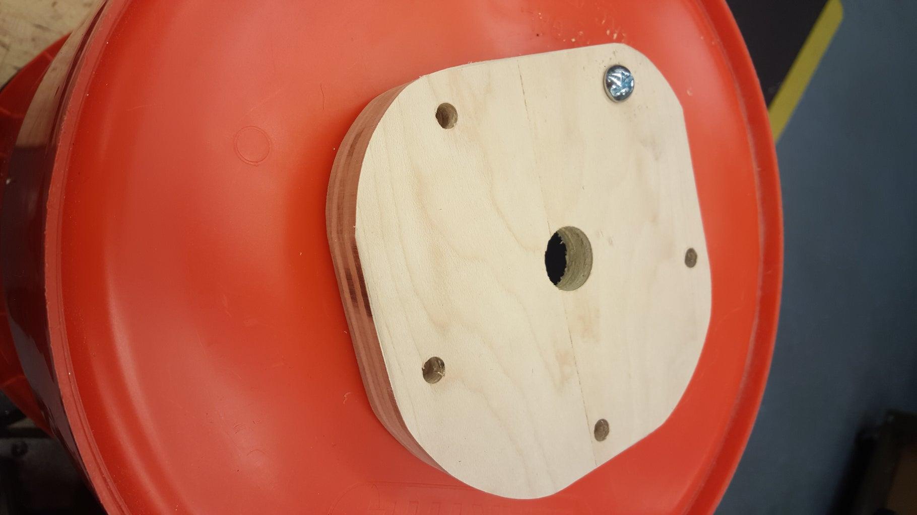 Drill the Bucket: Sprocket Mount Holes