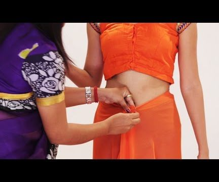 How To Wear A Saree In Different Indian Styles For Party Step By Step To Look Slim - Dhoti Style