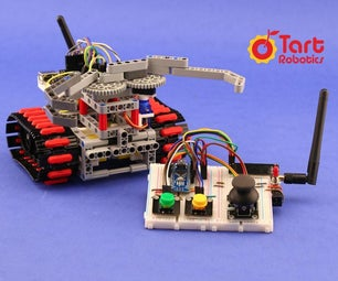一个DIY救援机器人与Arduino,3D打印,乐高兼容的部分