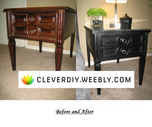 DIY Up-cycled Wood End Table