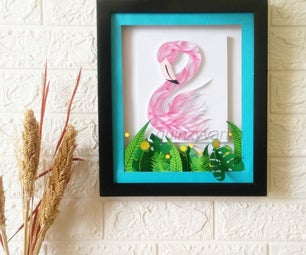 Flamingo Paper Quilling Home Decor Idea