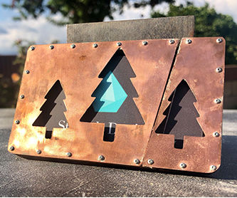 Copper & Wood Business Card Holder
