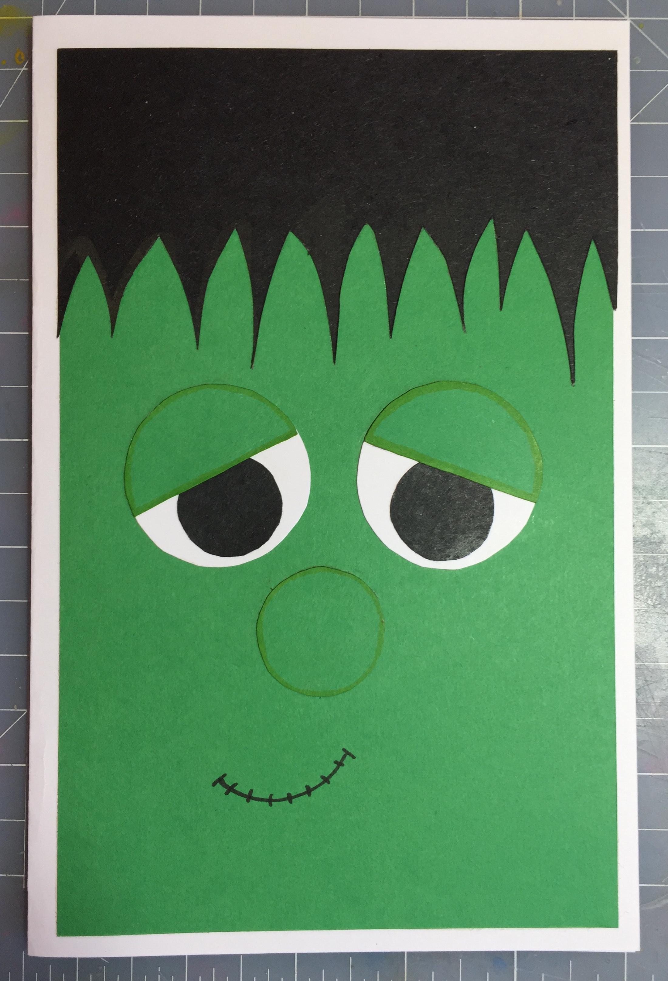 Frankenstein Halloween Card - DIY Crafts