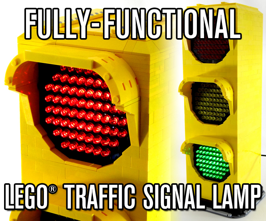 Fully-Functional LEGO Traffic Signal Lamp