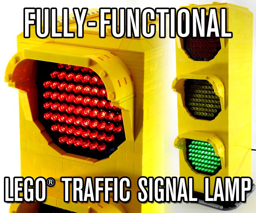 Fully-Functional LEGO Traffic Signal Lamp