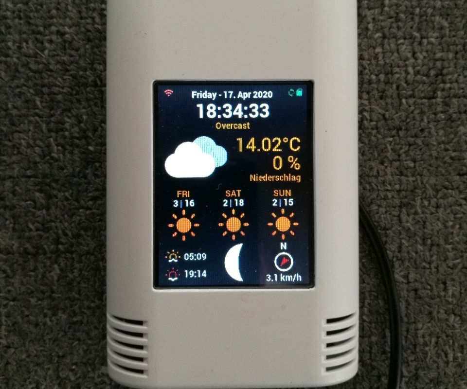 PiZero Colored Weather Station