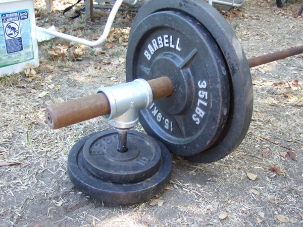 Convert One-inch Weights to Olympic Bar