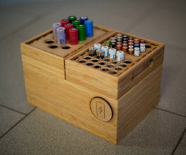 Lasercut Battery Organizer