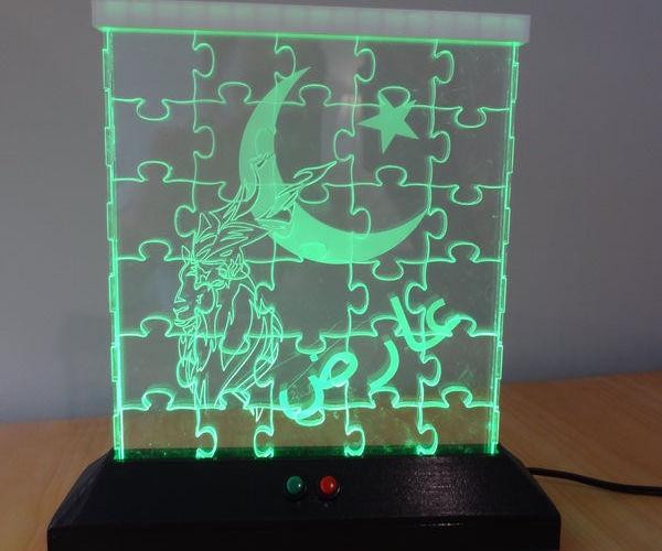 LED Jigsaw Puzzle Light (Acrylic Laser Cut)