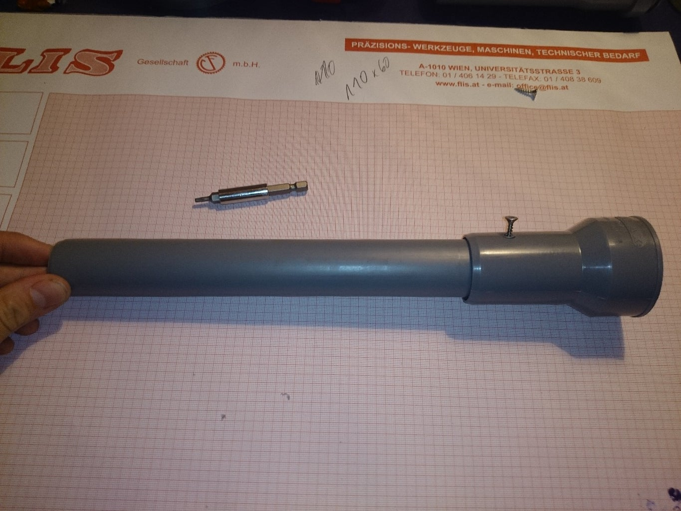 Connect 30cm Tube & Metal Tube Connection Piece