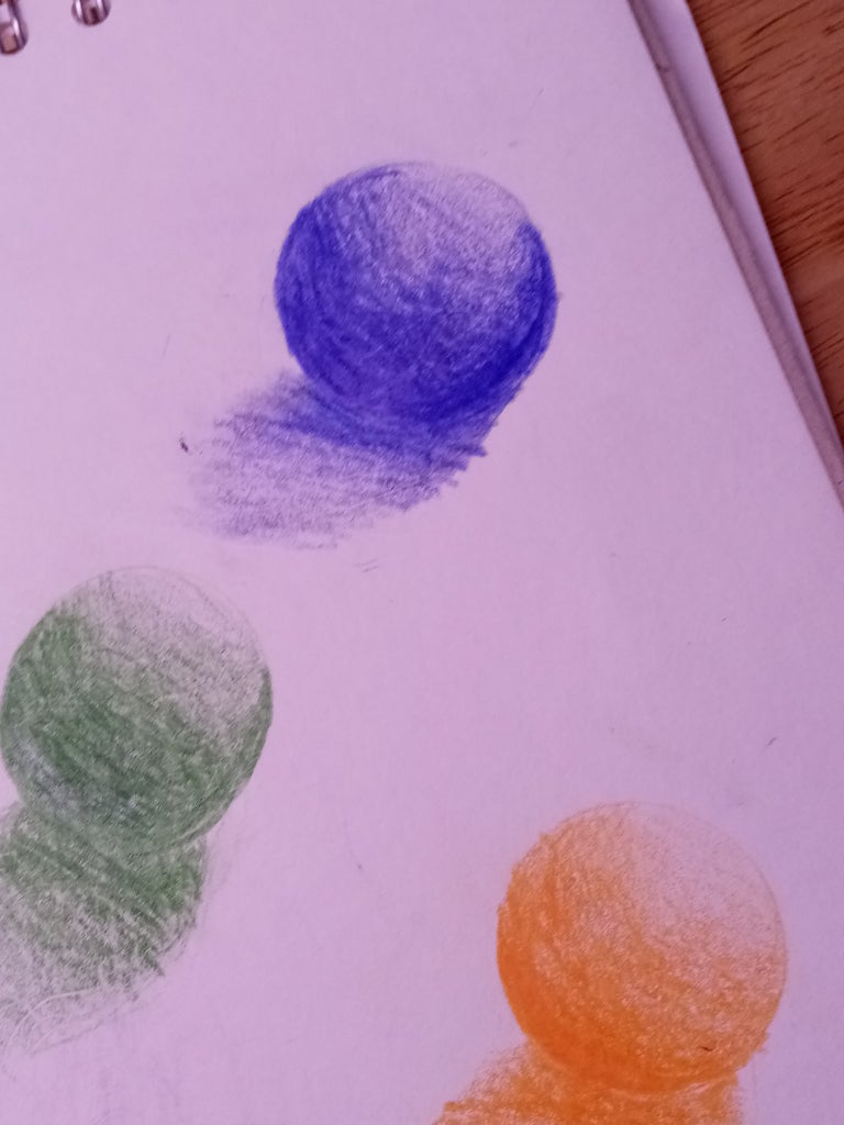 Still Life Drawing With Color Pencils, How to Draw a Sphere