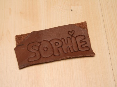 Embossing the Letters