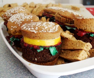 Sweet Burger Cupcakes and Fries!