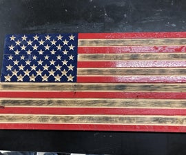 V-Carve American Flag