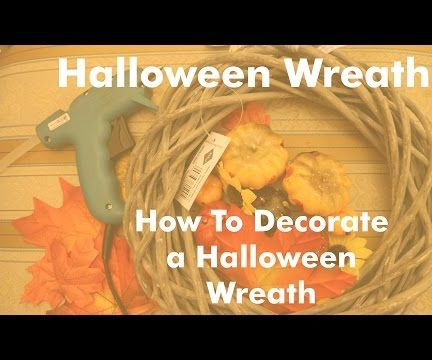 How To Decorate a Halloween Wreath