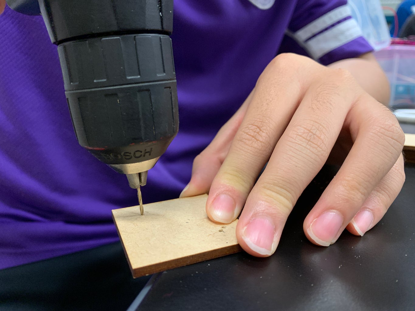 Making the Box/Drilling a Hole for It