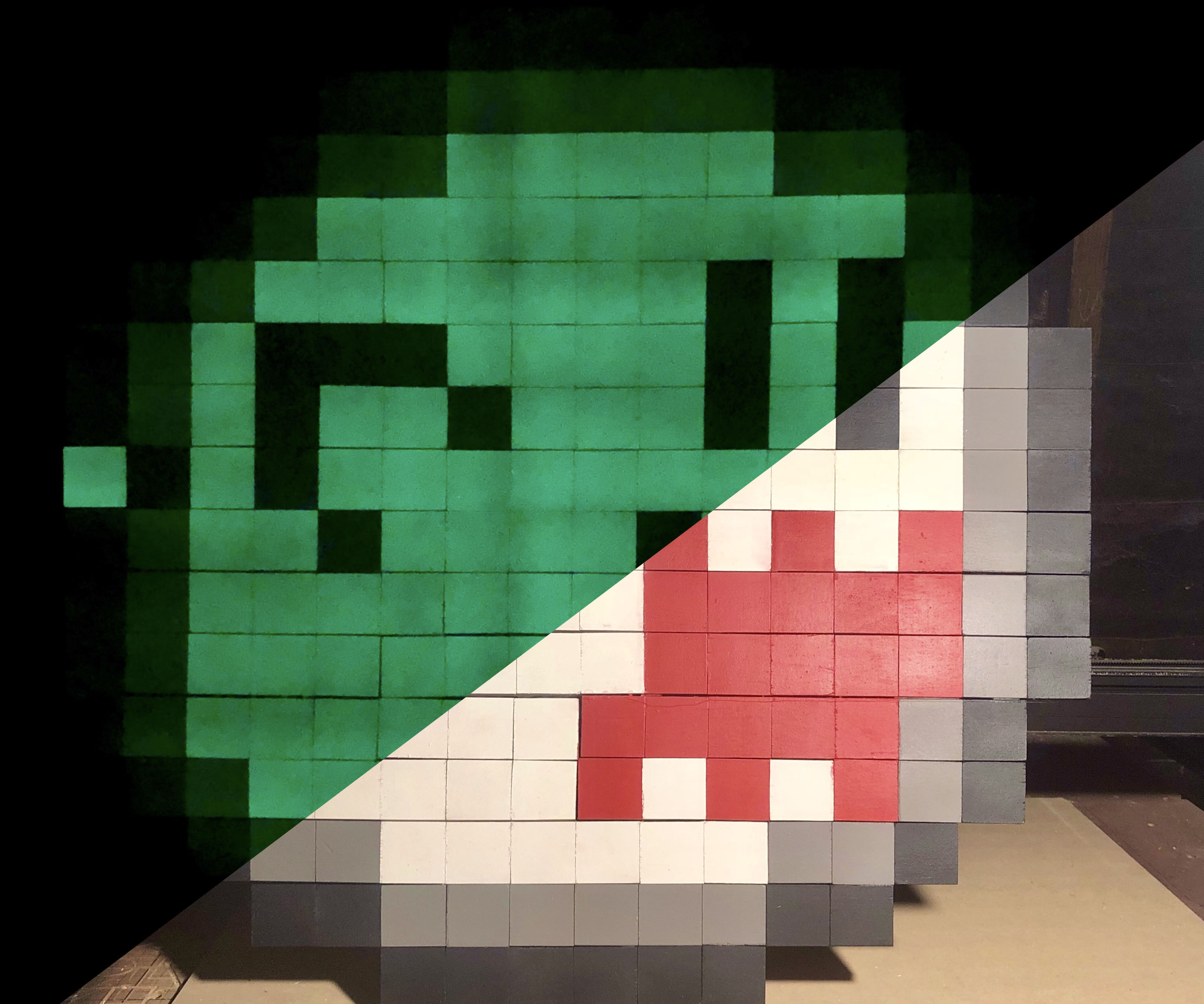 8-Bit Glow in the Dark Pixel Art