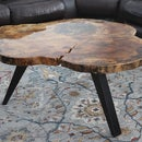 DIY Live Edge Table With Metal Legs