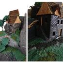Modular miniature house frame parts